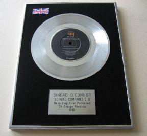 SINEAD O'CONNOR - NOTHING COMPARES 2 U PLATINUM single presentation DISC